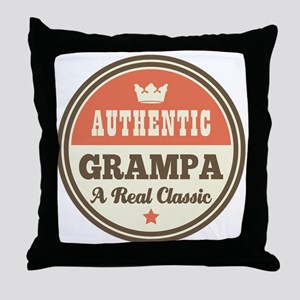 Classic Grampa Throw Pillow